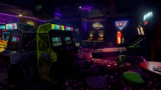 room arcade new retro arcade neon launches on steam for htc vive