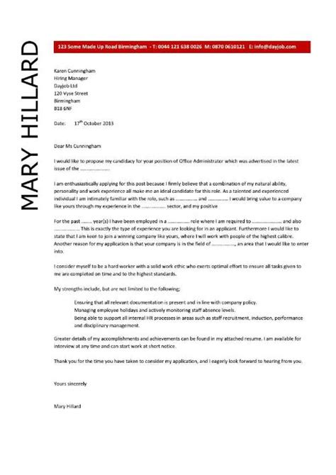 office cover letter template office administrator resume exles cv sles