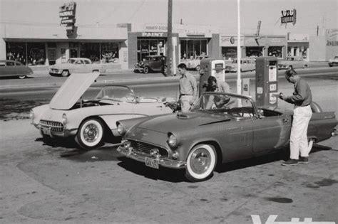 corvette thunderbird 1956 corvette test c1 vs 56 thunderbird comparison