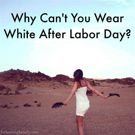 why can t you wear white after labor day