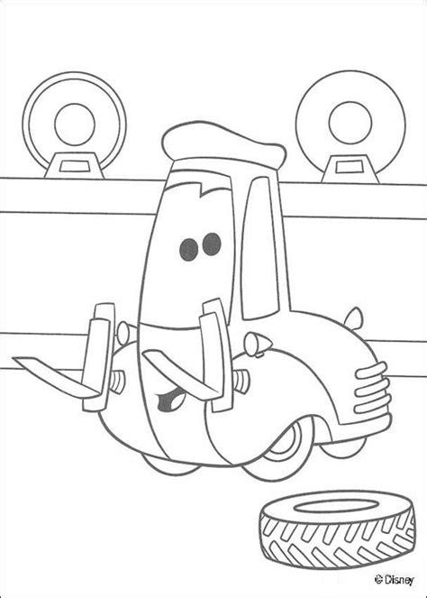 cars guido coloring pages cars gabelstapler guido zum ausmalen de hellokids com