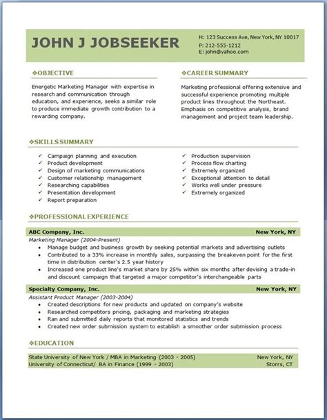 Free Professional Resume Template by Free Professional Resume Templates To