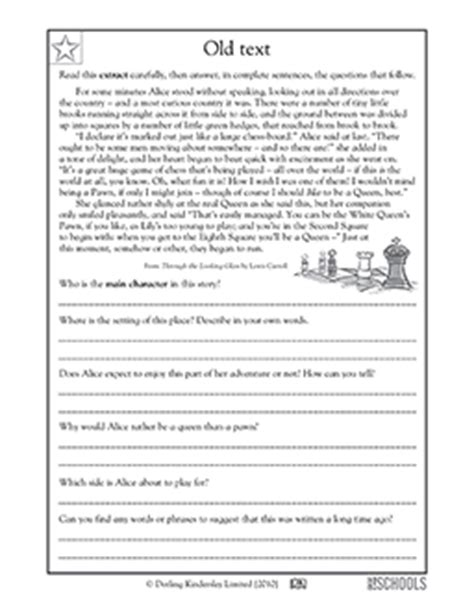 Free Printable 5th Grade Reading Comprehension Worksheets by 5th Grade Reading Worksheets Comparing Two Stories