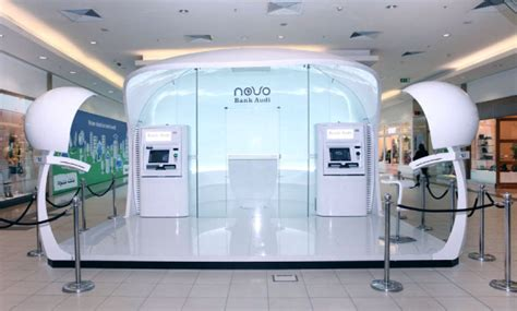kiosk bank branch showcase experimental concept stores flagship