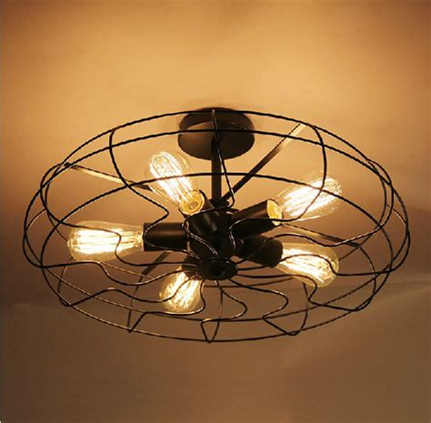 Kitchen Ceiling Plate Lights Retro Vintage Industry American Country Fan Edison Ceiling