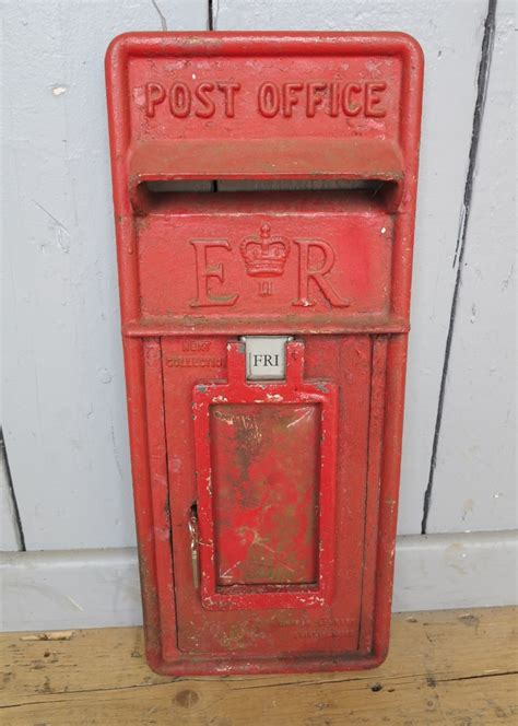 original royal mail post office er post box front 7743