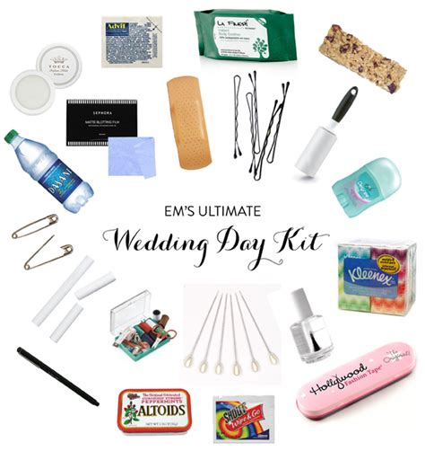 Wedding Emergency Kit by Wedding Day Emergency Kit Em For Marvelous
