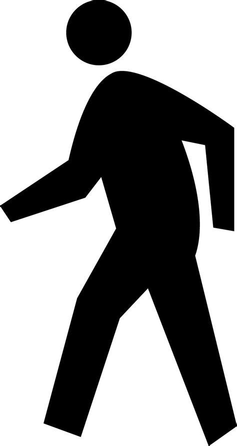 pedestrian crossing silhouette clipart