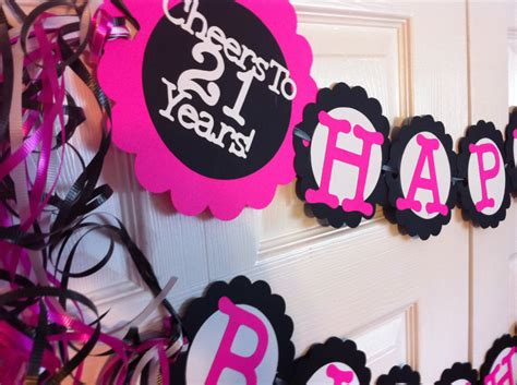 21st Birthday Decoration Ideas by 21st Birthday Decorations Personalization By Frombeths