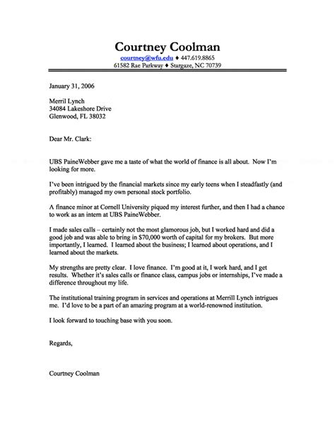 Finance Letter Stock Finance Cover Letter