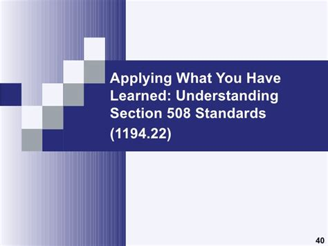 section 508 accessibility standards understanding section 508