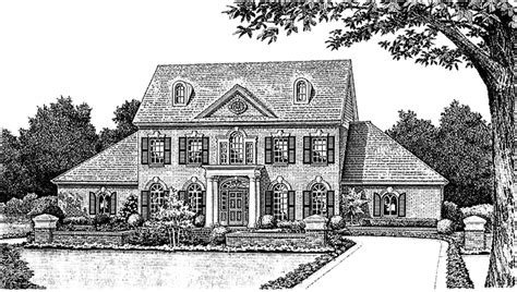 front exterior the adams floor plan 2120sq ft 2014 classical style house plan 4 beds 3 5 baths 2959 sq ft