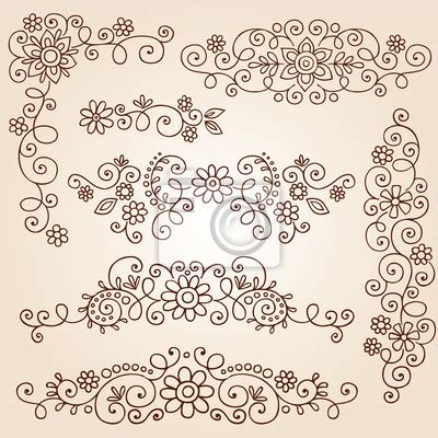 mural tattoo designs wall mural henna paisley doodle vector design