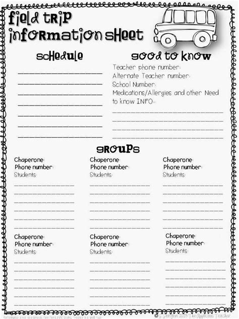 field trip form template planning a stress free field trip