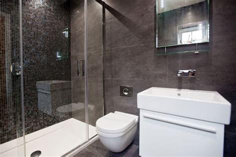 floor to ceiling purple mosaic bathroom tiles bathroom black ensuite with large floor and ceiling tiles and black