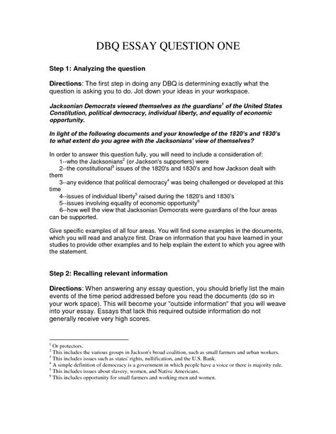 How To Write A Dbq Essay how to write a dbq essay