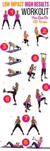 a low impact high results workout to do at home