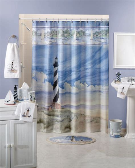 light house shower curtain lighthouse shower curtains furniture ideas deltaangelgroup