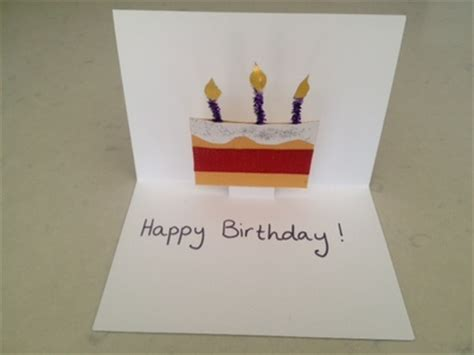 diy card for birthday template pop up birthday cake card my kid craft