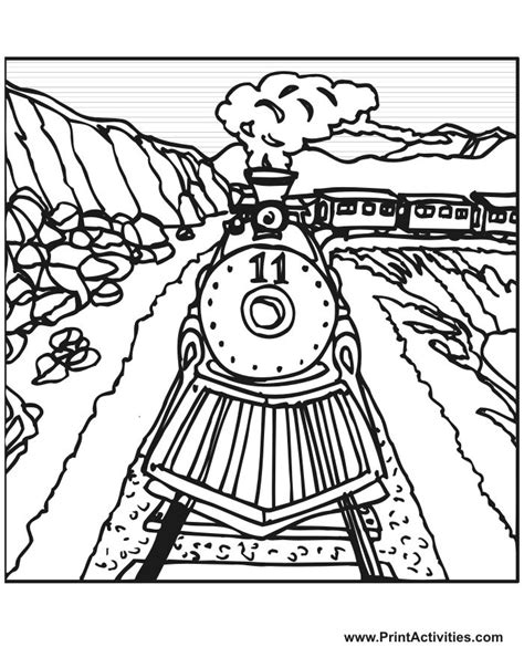 coloring pages of train tracks steam train coloring page train number 11 on the tracks