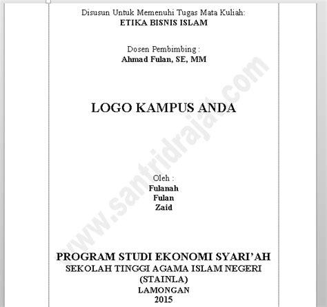 contoh membuat makalah ekonomi download makalah arsip santri drajat