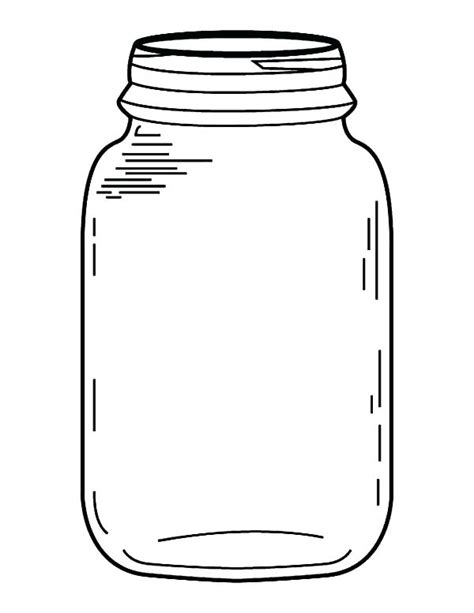 how to color jars jar line drawing at getdrawings free for
