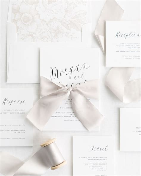 Wedding Invitations With Ribbon by Ethereal Calligraphy Ribbon Wedding Invitations Ribbon