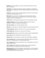 Ecology Study Guide Worksheet by Ecology Test Study Guide