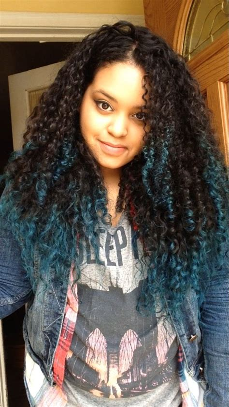 ombre tips and styles for kinky hair teal tips natural curly hair ombr 233 my hair pinterest