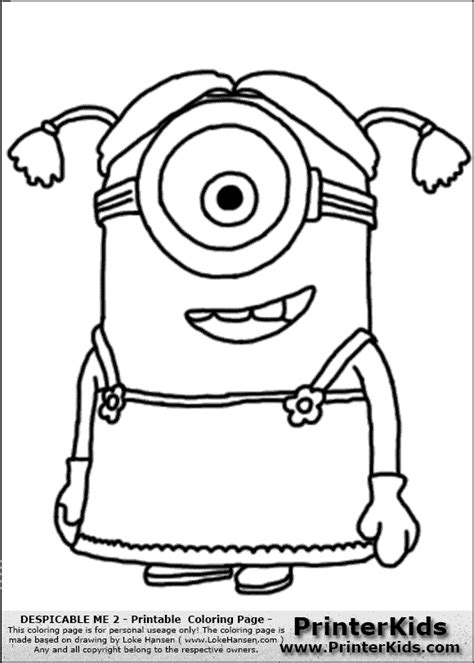 coloring pages of girl minions minion dave clipart cliparthut free clipart