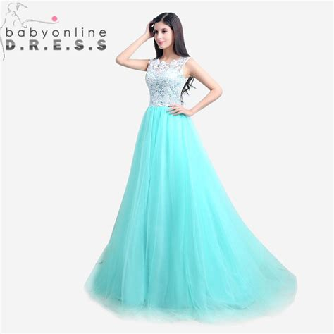 aliexpress buy dress party evening elegant green lace long aliexpress com buy elegant mint green lace and tulle