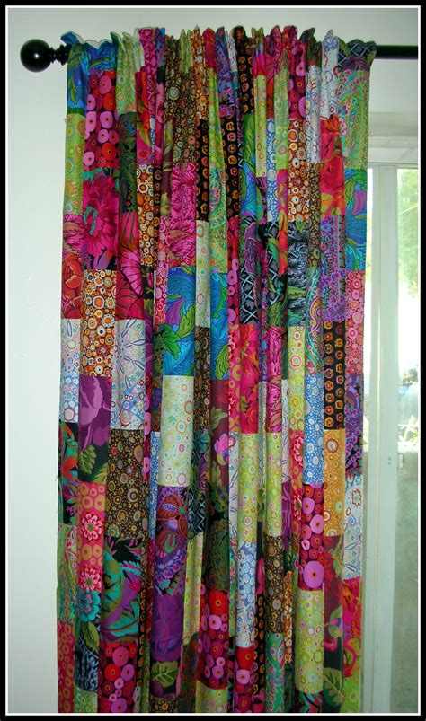 Patchwork Bedding And Curtains - boho fabric patchwork curtain shower curtain or quilt