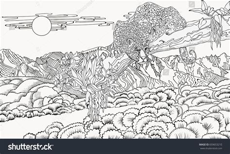 landscape coloring books for adults detailed landscape coloring pages for adults part 6