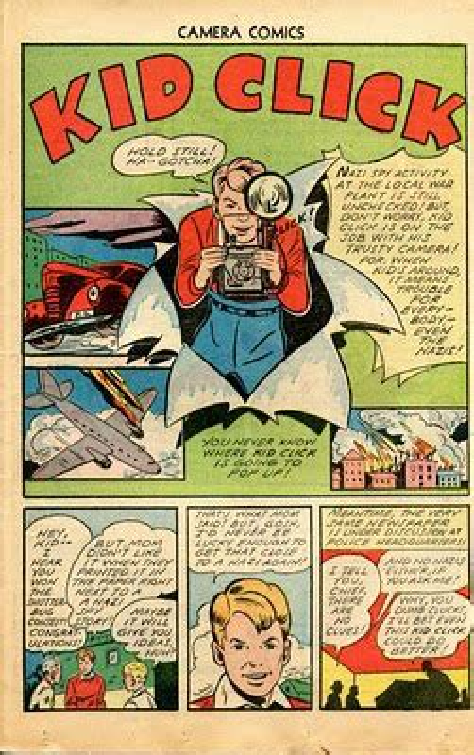 camera themed comic books