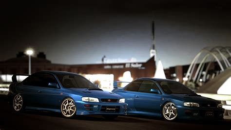 subaru 22b wallpaper subaru impreza 22b vs sedan wrx sti gt6 by