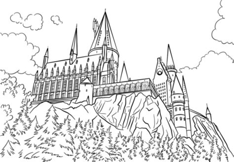 harry potter coloring pages gryffindor hogwarts castle coloring page free printable coloring pages