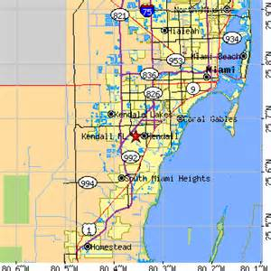 where is kendall florida on a map kendall florida fl population data races housing