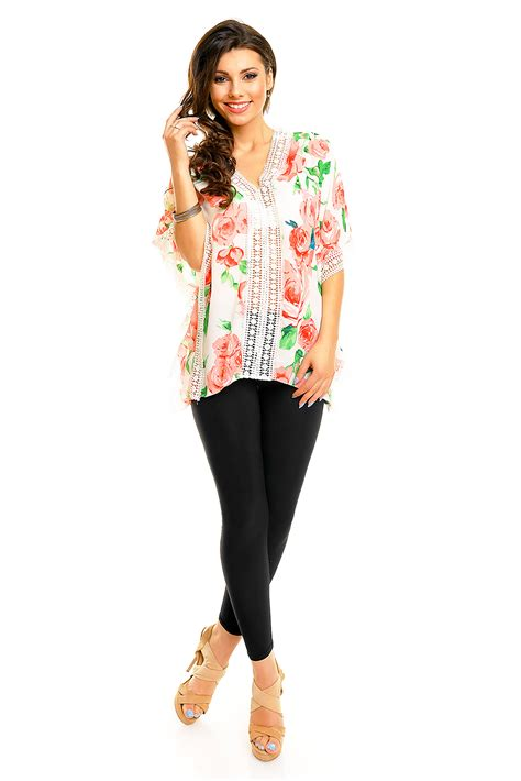 Blouse Tn blouse sunday free tn103 white pink green 3 pieces