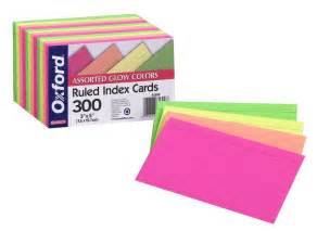 colored index cards new oxford 3x5 glow index cards ruled assorted colors