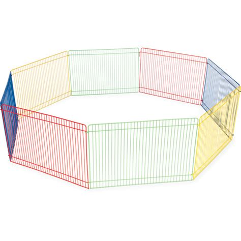 puppy pen walmart prevue pet products multi color 8 panel small animal pet playpen walmart