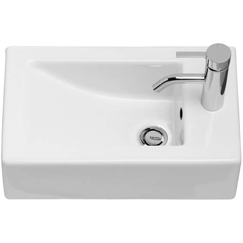 Bathroom Vessels Caroma Liano Hand Wall Basin 1th Bunnings Warehouse