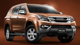 Isuzu Mu Specs 2017 Isuzu Mu X Powertrain Specs And Price