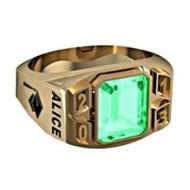14k gold and sterling silver mens class rings