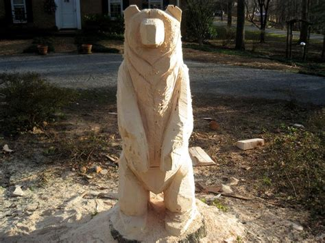 chainsaw carving favorite bear ideas images