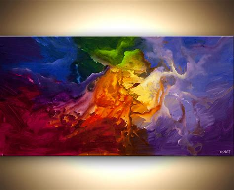 acrylic painting modern original colorful abstract painting modern space acrylic