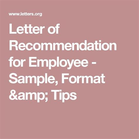 Recommendation Letter Gifts 25 Best Ideas About Employee Recommendation Letter On