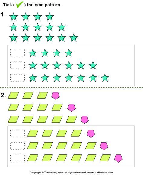13 best images of growing patterns worksheets grade 5 growing pattern turtlediary com