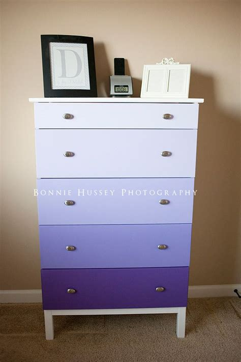 Purple Dresser by Purple Ombre Dresser Home Dresser
