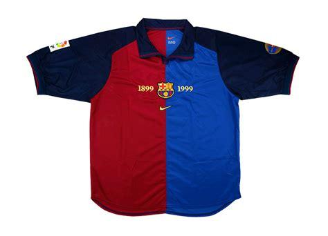 Jersey Retro Barcelona Centenary 1999 Home nike 1999 00 barcelona match issue centenary home shirt vintage football shirts football