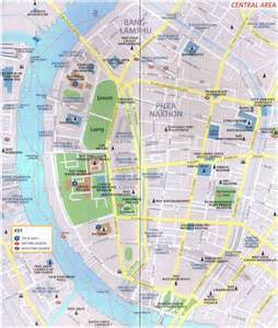 bangkok map tourist attractions bangkok map of historic city with tourist